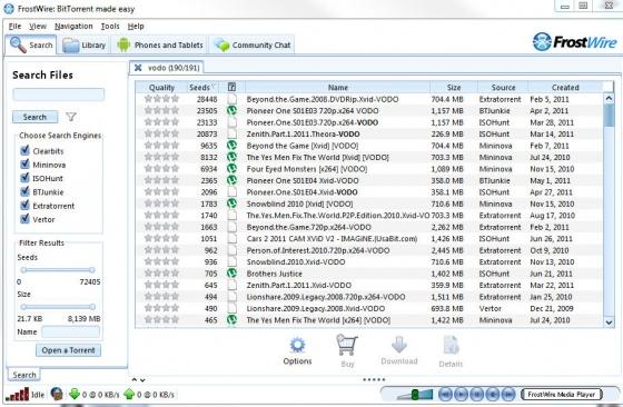 Screenshot frostwire