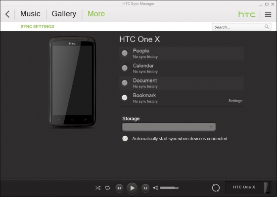 Screenshot htc sync manager