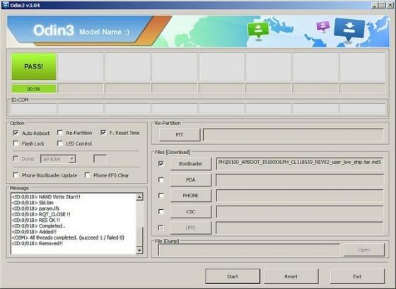 Screenshot odin3