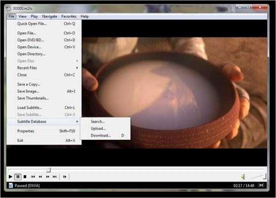 Screenshot media player classic home cinema