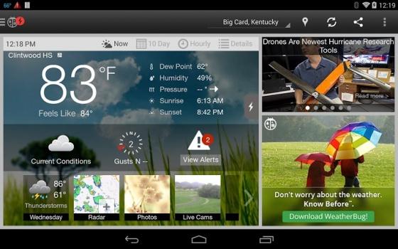 Screenshot weatherbug