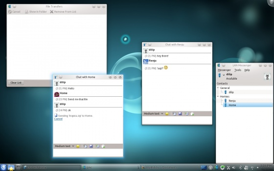 Screenshot lan messenger