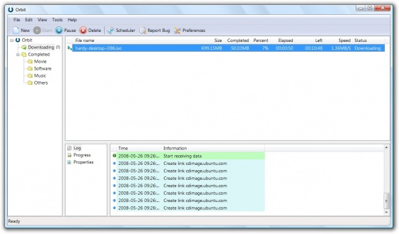 Screenshot orbit downloader