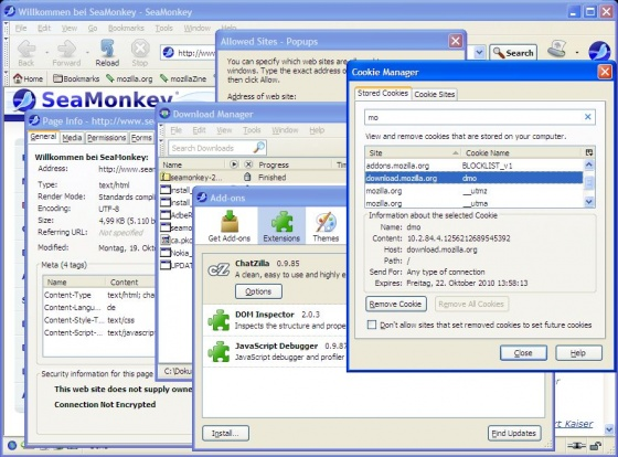 Screenshot seamonkey