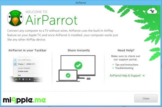 Screenshot airparrot