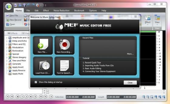 Screenshot free audio editor