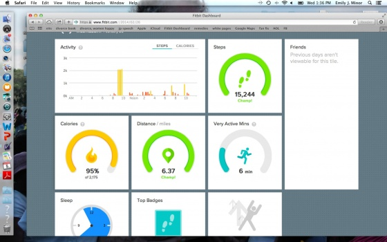 Screenshot fitbit