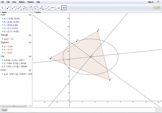 Screenshot geogebra