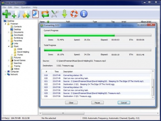 Screenshot free audio converter