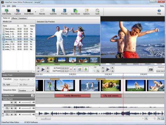 Screenshot free video editor
