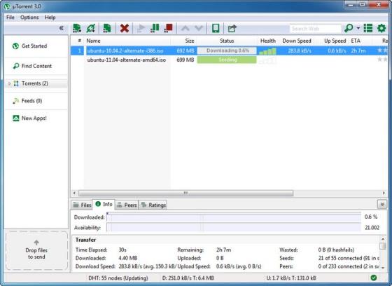Screenshot utorrent