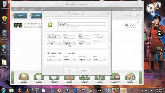 Screenshot freemake video converter