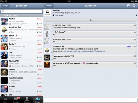 Screenshot palringo
