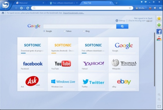 Screenshot baidu spark browser