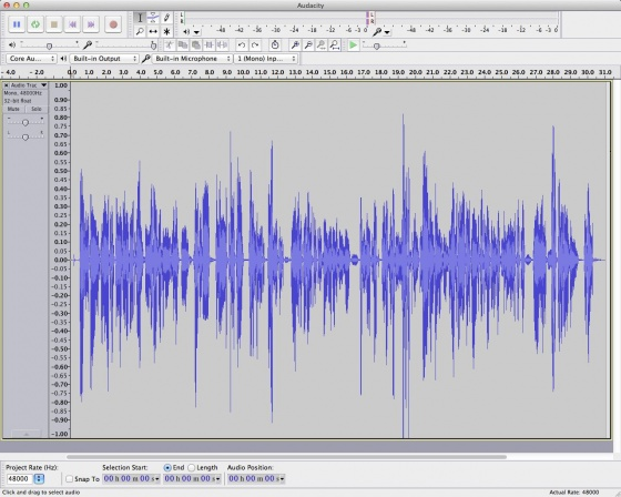 Screenshot audacity