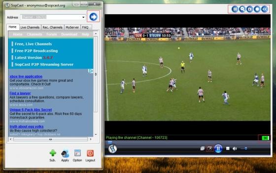 Screenshot sopcast