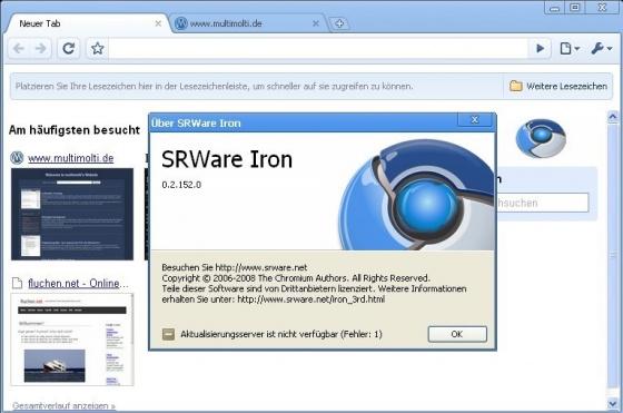Screenshot srware iron