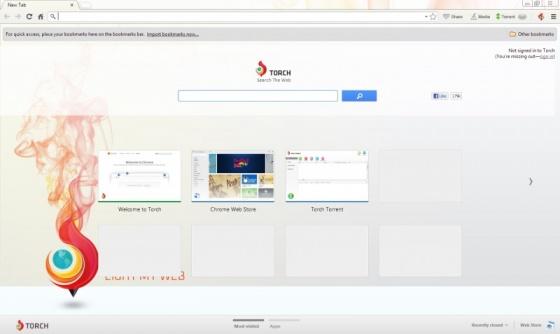 Screenshot torch browser