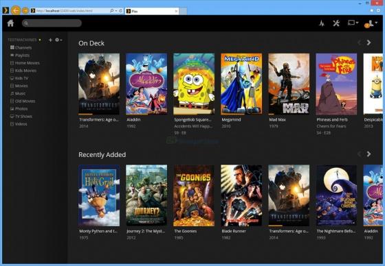 Screenshot plex media server