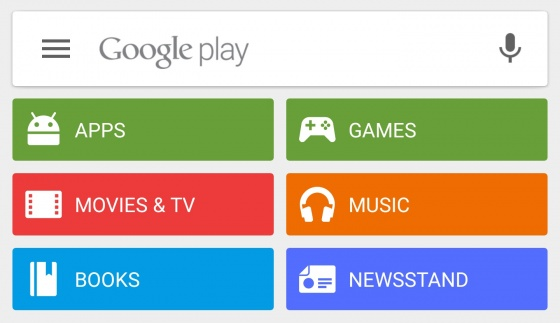 Screenshot google play store