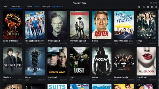 Screenshot popcorn time