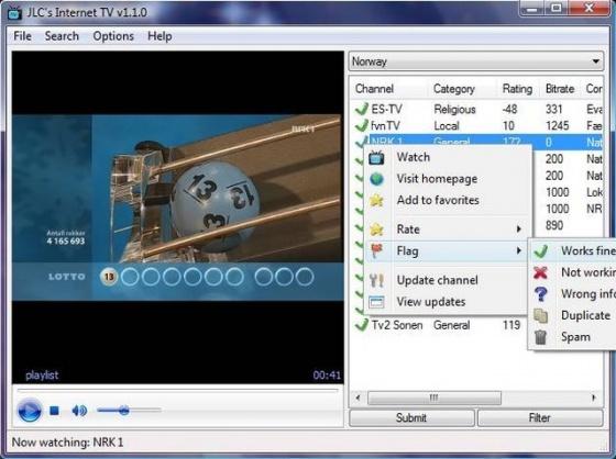 Screenshot internet tv