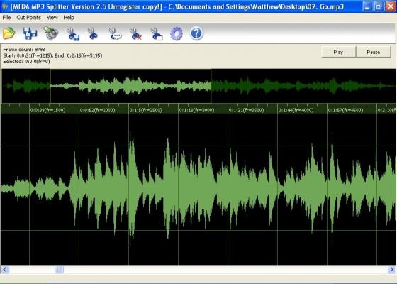 Screenshot mp3 splitter