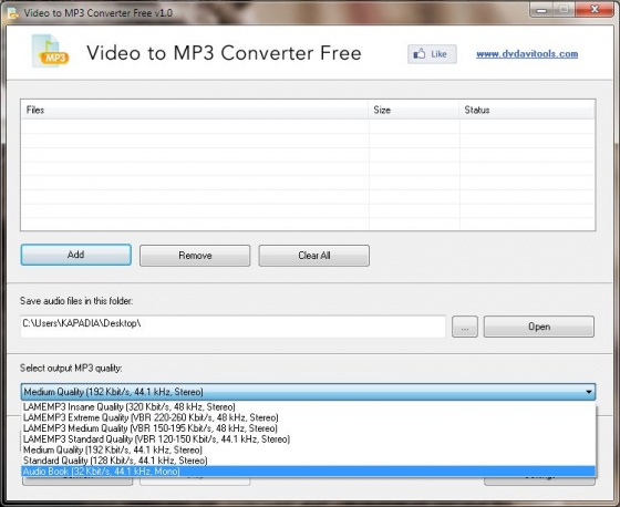 Screenshot free video to mp3 converter