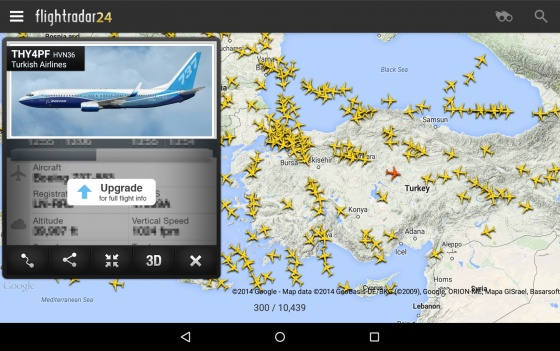Screenshot flightradar24