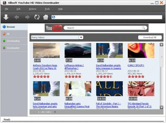 Screenshot xilisoft youtube hd video downloader
