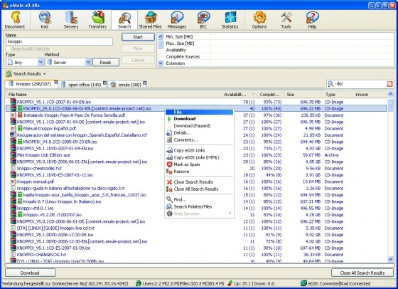Screenshot emule