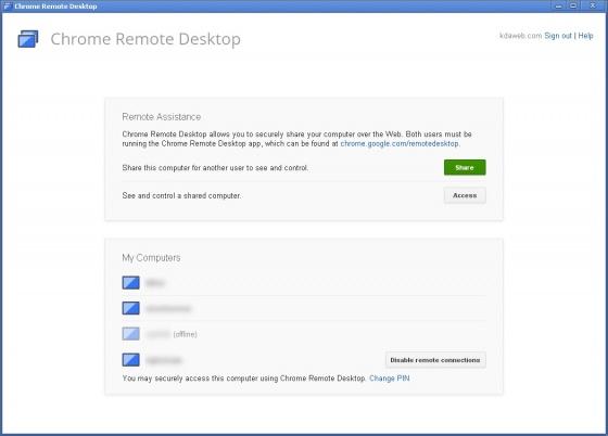 Screenshot chrome remote desktop