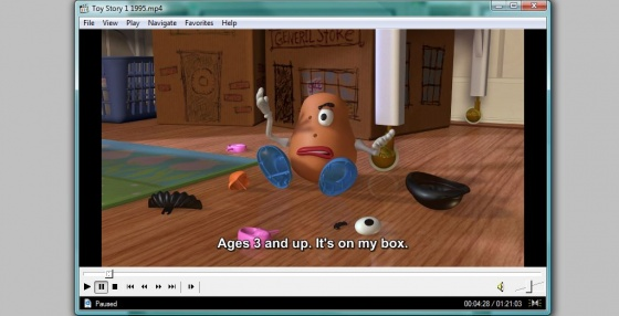 Screenshot mp4 media player