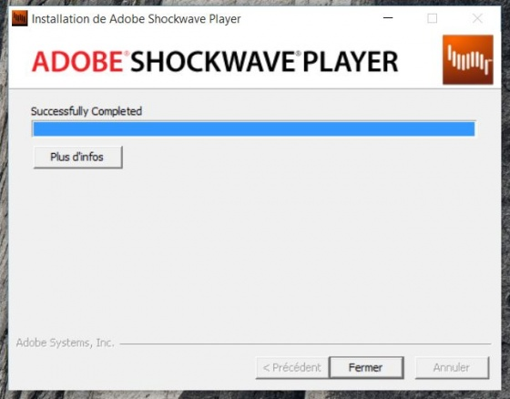 Screenshot adobe shockwave player
