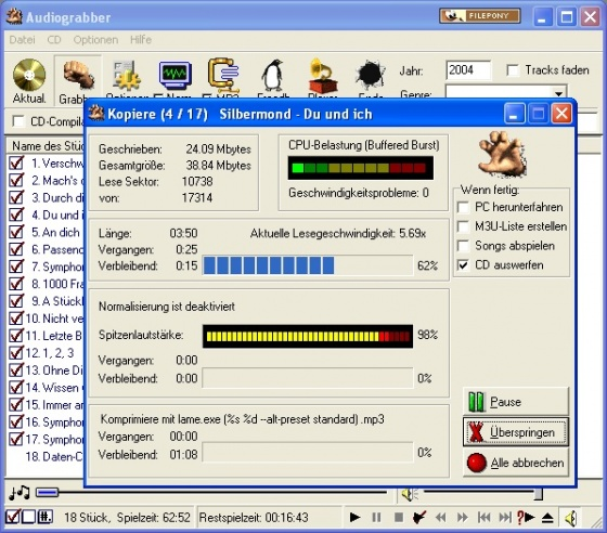 Screenshot audiograbber