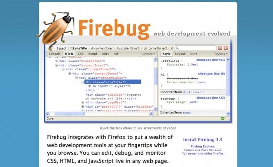 Screenshot firebug