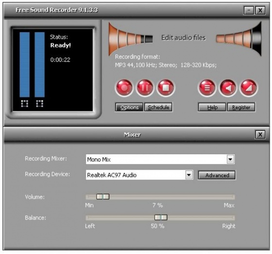 Screenshot free sound recorder