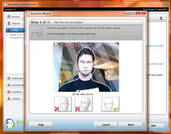 Screenshot keylemon